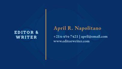 Online Business Card Maker for Book Publishers 221d