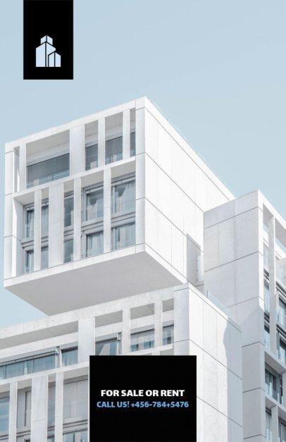 Real Estate Flyer Template Minimalist Theme 206b-1903