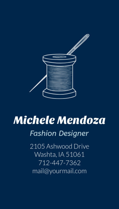 Online Business Card Maker for Modern Tailors 180e