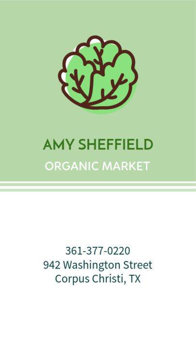 Organic Market Business Card Maker 215a