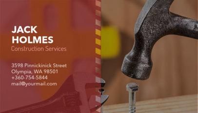 Construction Services Business Card Maker 230b