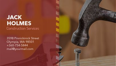 Construction Services Business Card Maker 230b