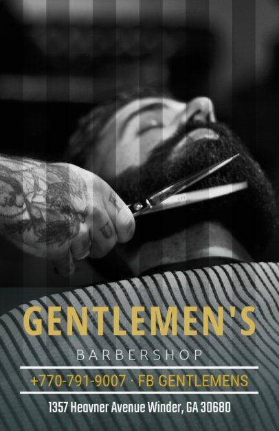 Online Flyer Maker for a Barber Shop 212a