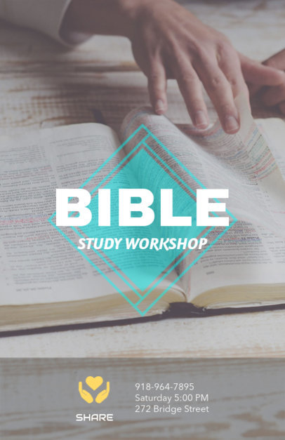 Flyer Maker for Bible Study Lessons 198c