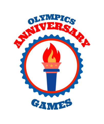 T-Shirt Design Maker for Olympic Games with Olympic Symbols 42a