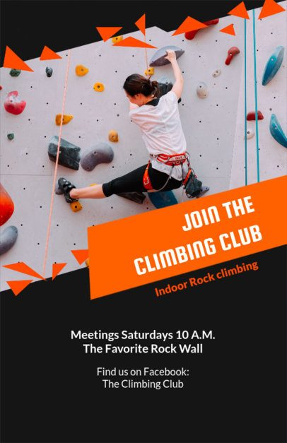 Online Flyer Maker for Indoor Rock Climbing 106b