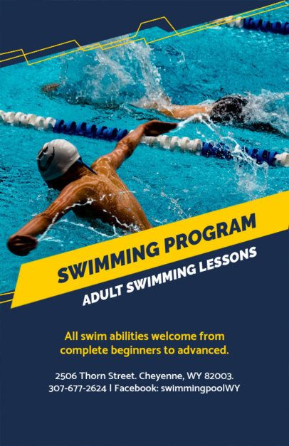 Online Flyer Maker for Swim Classes 106e