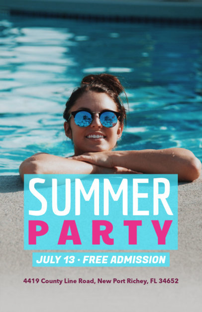 Online Flyer Maker for a Summer Party with Pool Image 222d