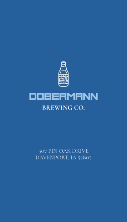 Business Card Template for a Brewery Blue Theme 76b