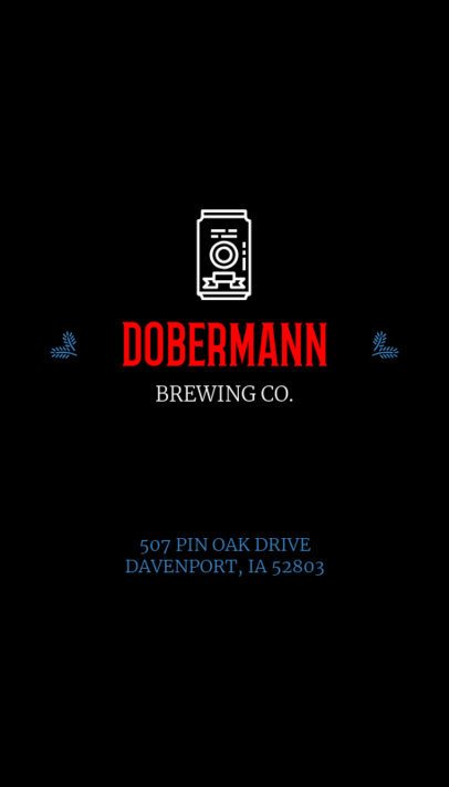 Business Card Template for a Brewery Dark Theme 76d