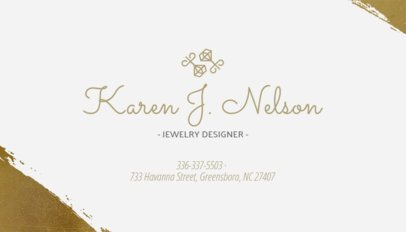 Business Card Maker for Engagement Ring Designers 224e