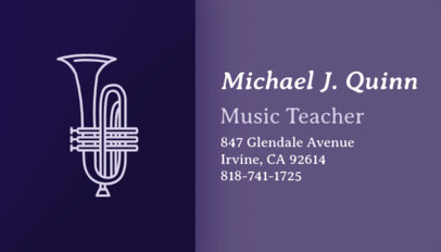 Music Business Card Maker for Music Teachers 101b