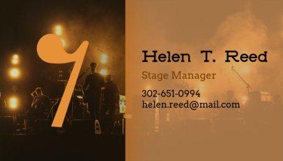 Business Card Maker for Musicians 101c