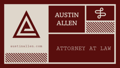 Attorney Business Card Maker 47c