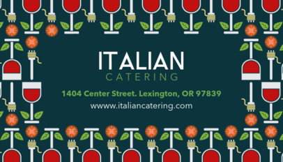 Catering Business Card with Pattern Design 143a