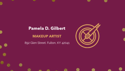 Placeit makeup artist business card maker customizable business card template for makeup artists flashek Image collections