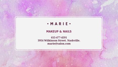 Customizable Business Card Maker for Beauty Salons 112e