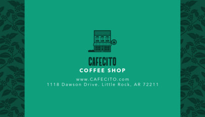 Online Business Card Maker for Cafe with Coffee Icons 186b