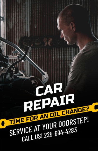 Online Flyer Maker for a Car Repair Shop 273e