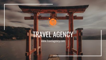 Travel Agency Business Card Maker with Photography 264a-1819