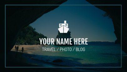 Travel Blogger Business Card Maker 264d