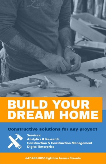 Construction Solutions Flyer Maker with Custom Photo Backgrounds 240a