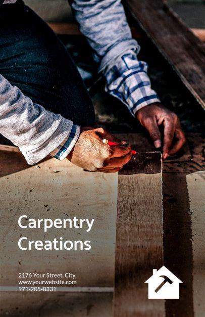 Online Flyer Maker for Carpenters 245f
