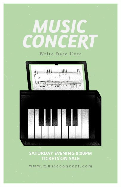 Online Flyer Maker for a Piano Music Concert 192d