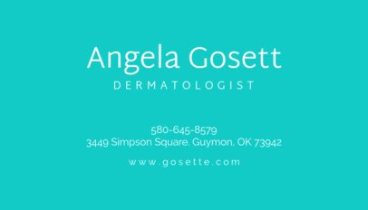 Dermatologist Business Card Maker 203a