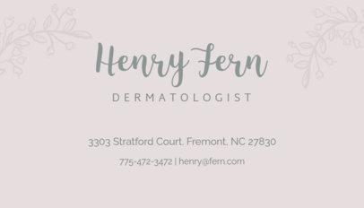 Spa Dermatologist Business Card Maker 203c
