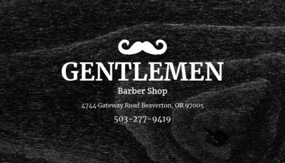 Online Business Card Maker for Gentlemen Barber Shop 103c