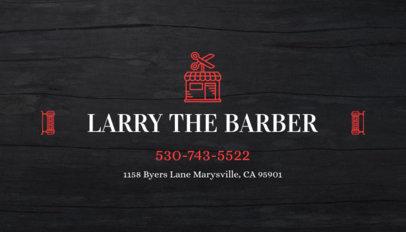 Business Card Maker for Barber Shop with Barber Images 103d