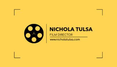 Online Business Card Maker for a Film Director 217c