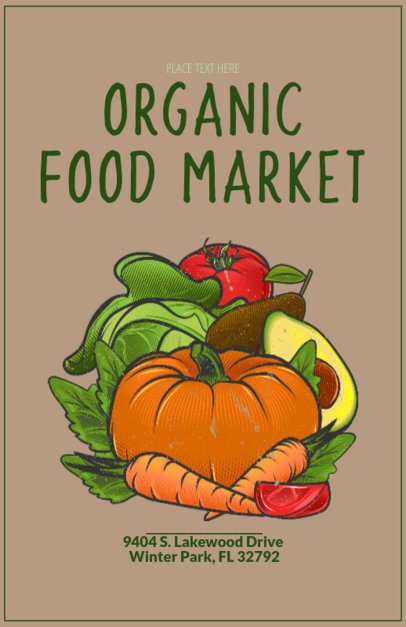 Online Flyer Maker for an Organic Food Market 163a
