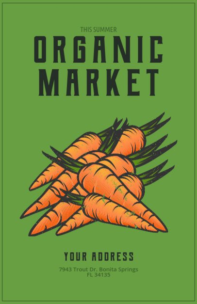 Flyer Template for an Organic Food Market 163e