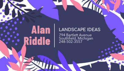 Landscape Business Card Maker with Graphic Background Design 246b