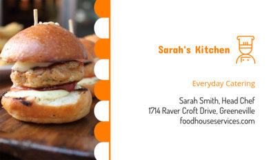 Catering Business Card Maker 107a