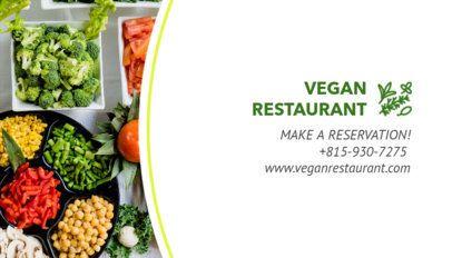 Vegan Restaurant Business Card Maker 107c
