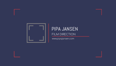 Business Card Template for a Film Director 217e