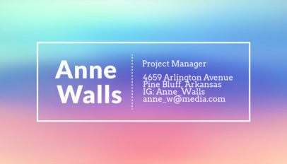 Artistic Business Card Template for Project Managers 246e