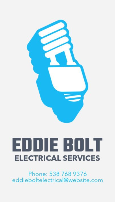 Online Business Card Maker for Electrical Services 254c