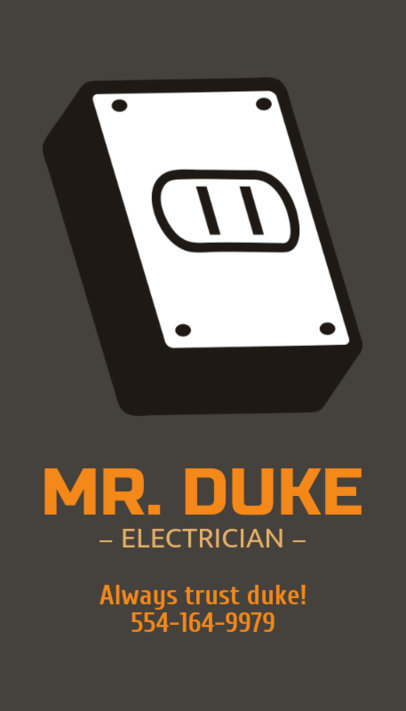 Online Business Card Maker for an Electrician 254d