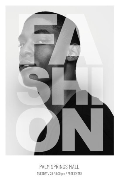Online Flyer Maker for Men's Fashion 167b