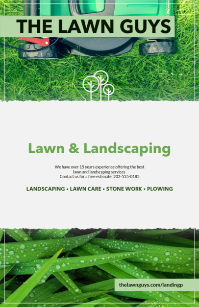 Placeit Customizable Flyer Template For Landscape Designers