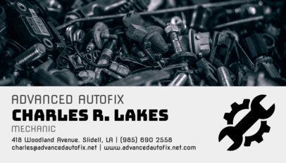 Mechanic Business Card Maker 158d