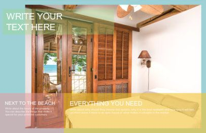 Online Flyer Maker for Beach Real Estate 249v