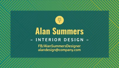 Minimalistic Business Card Template for Interior Designers 243a