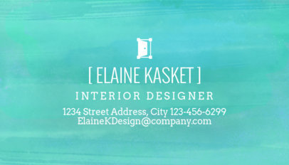 Watercolor Business Card Maker for Interior Designers 243b