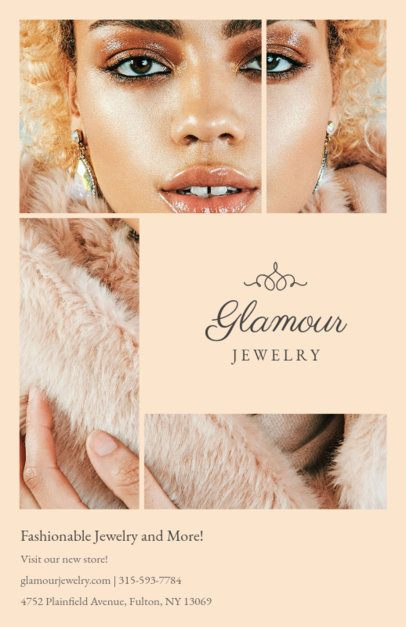 Online Flyer Maker for a Trendy Jewelry Store 301a-1819