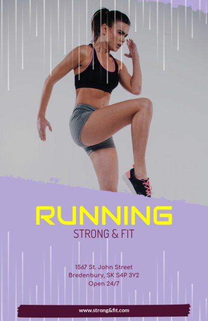 Flyer Maker for Running Events with Running Images 347 a